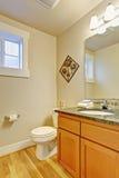 Toilet met het kabinet van de esdoornijdelheid Stock Foto's