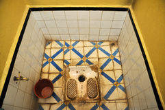 Toilet in Morocco Stock Images