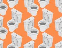 Toilet naadloos patroon Toebehoren aan toiletornament op Oran Stock Fotografie