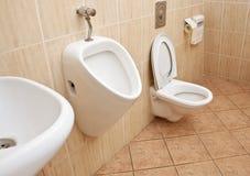 Toilet in office Stock Photos