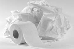 Toilet paper. stock photo