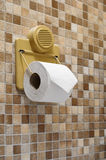 Toilet paper. Hang on wall royalty free stock images