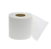 Toilet paper. Simple toilet paper on white background stock image