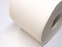 Toilet Paper. Roll of toilet paper stock image
