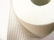 Toilet Paper. Roll of toilet paper stock photography