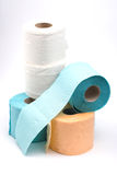 Toilet paper. Stack of some rolls of color toilet paper Stock Image