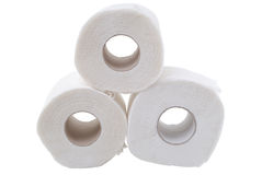 Toilet paper. Isolated on white background Royalty Free Stock Photography