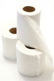 Toilet paper. Isolated on a white background Stock Images