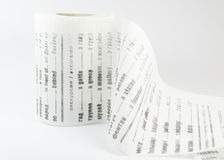 Toilet paper as funny Russian-English dictionary on white background Royalty Free Stock Images