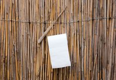Toilet paper at a toilet at campsite in Namibia. Simple royalty free stock image
