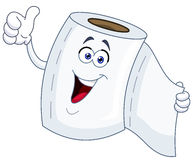 Toilet paper cartoon Royalty Free Stock Photo