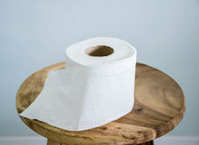 Toilet paper on chair Royalty Free Stock Images