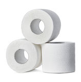 Toilet paper close-up isolated Royalty Free Stock Photography