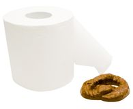 Toilet paper with feces Stock Photography
