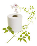 Toilet Paper with Flower Royalty Free Stock Photography