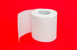Toilet paper with gastric problems Royalty Free Stock Image