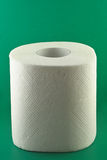 Toilet paper on green Royalty Free Stock Photography