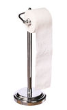 Toilet paper holder standing isolated on white Royalty Free Stock Image