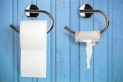 Toilet paper. Humor embarrassment paper public restroom bathroom empty Royalty Free Stock Photo