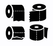 Toilet Paper Icon Royalty Free Stock Photos