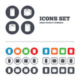 Toilet Paper Icons. Kitchen Roll Towel Symbols Royalty Free Stock Photography