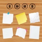 Toilet paper icons. Kitchen roll towel symbols. Stock Images