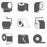 Toilet paper icons Stock Image