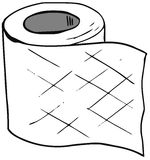 sketch of Toilet paper isolated Stock Image