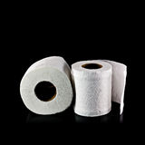 Toilet paper isolated Royalty Free Stock Photos