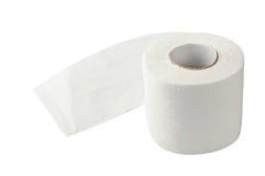 Toilet paper isolated on white Stock Photos