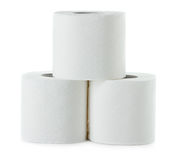 Toilet paper isolated on white Royalty Free Stock Photography
