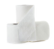 Toilet paper isolated on white Royalty Free Stock Images