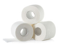 Toilet paper isolated on white Stock Image