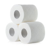 Toilet paper isolated on white Royalty Free Stock Photo