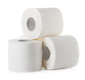 Toilet paper isolated on white Stock Images