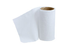 Toilet paper little leftover Royalty Free Stock Image