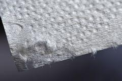 Macro of toilet paper. stock images