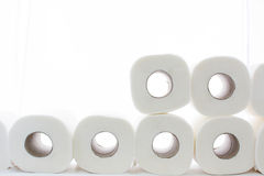 Toilet paper. Put on lines Royalty Free Stock Photo