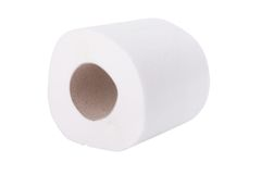 Toilet paper roll. Toilet papers roll isolated on white background Royalty Free Stock Image
