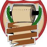 Toilet paper roll with brown ribbon Stock Photos