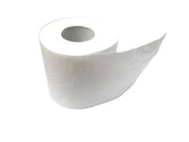 Toilet paper roll isolated on white Stock Photos