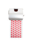 Toilet paper roll with printed hearts Stock Photography