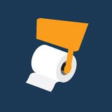 Toilet paper roll vector Royalty Free Stock Photography