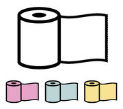 Toilet paper roll. Vector illustration Royalty Free Stock Images