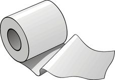 Toilet paper roll Royalty Free Stock Photos