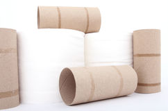 Toilet paper rolls Royalty Free Stock Image