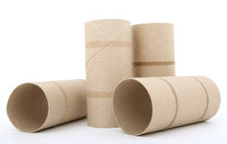 Toilet paper rolls Stock Photo