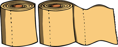 Toilet paper rolls Royalty Free Stock Photo