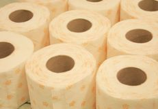 Toilet paper. Some toilet paper-roll without background Royalty Free Stock Photos
