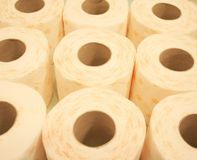 Toilet paper. Some toilet paper-roll without background Royalty Free Stock Photo